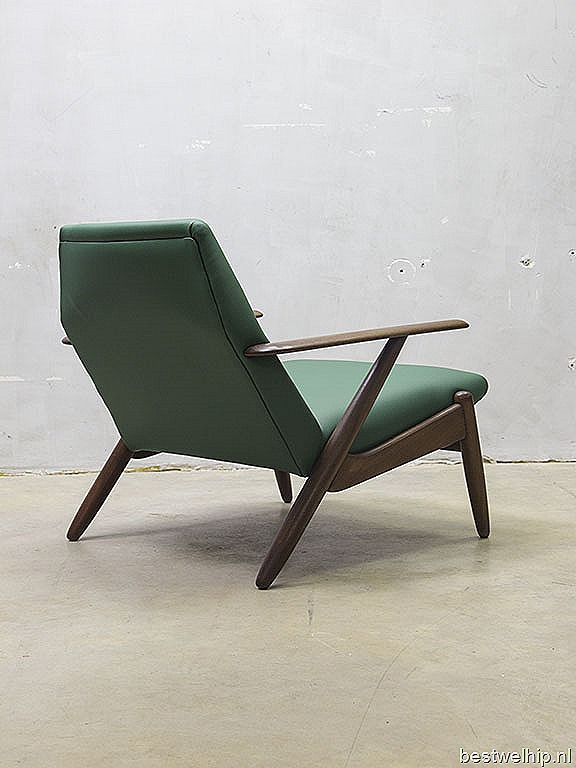 ... design lounge chair armchair, Deense vintage design lounge stoel