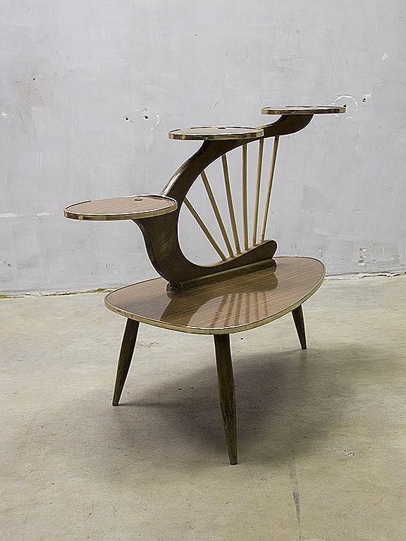 Retro Plantentafel Fifities Vintage Design Harp Plant