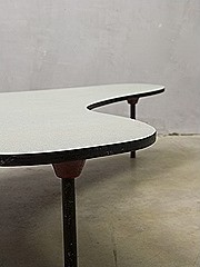 Boomerang coffee table salontafel niervorm XL Bovenkamp stijl