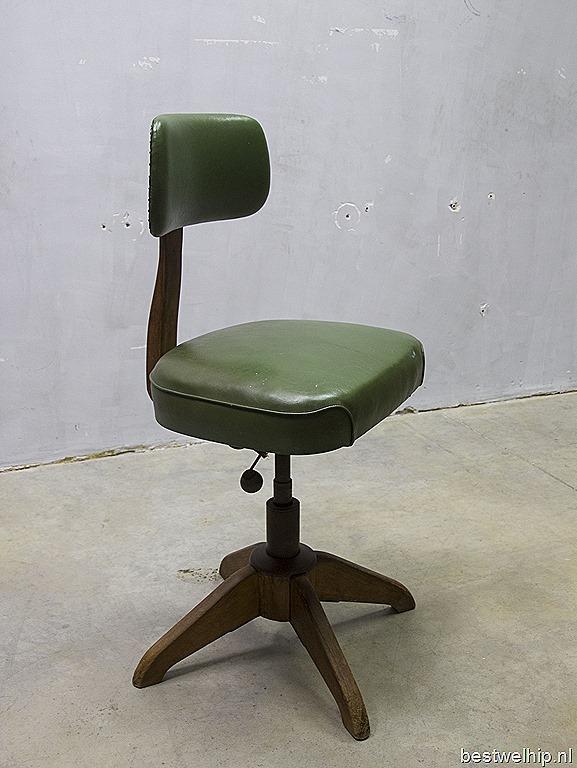 Industri le vintage bureau stoel kruk stoll giroflex for Bauhaus stoel vintage