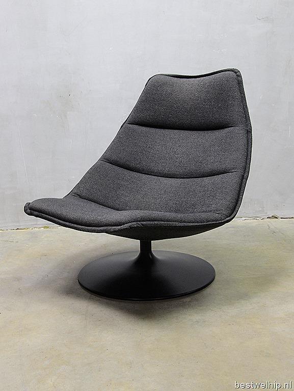 Artifort vintage design swivel chair artifort draaifauteuil schelp geoffrey harcourt bestwelhip - Comfortabele lounge stoel ...