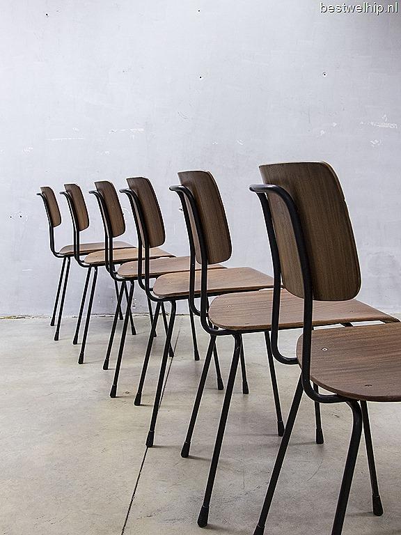 Dutch Design Stoelen Gispen.Gispen Cordemeyer Eetkamer Stoelen Industrieel Vintage Design
