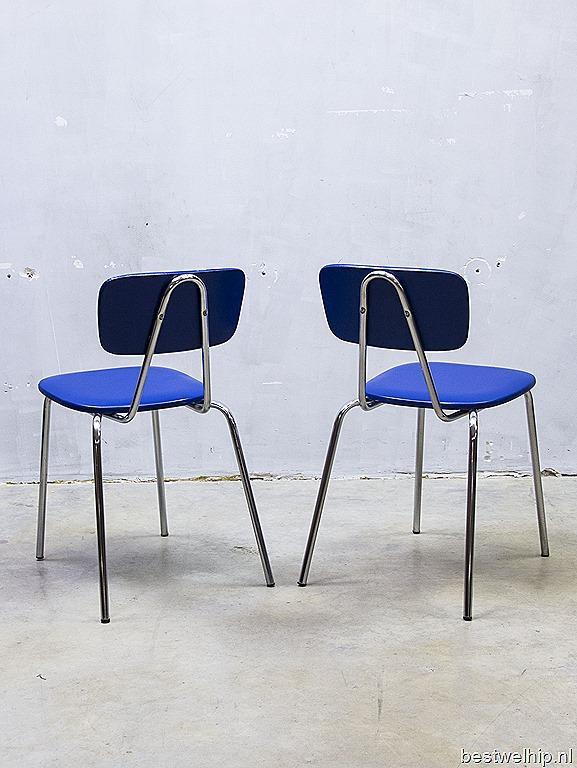 Partij retro kinder stoelen industrieel vintage stapelstoelen ...