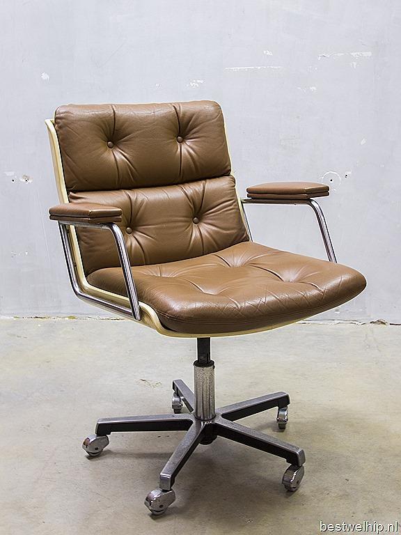 Mid century modern vintage design bureaustoel for Bureaustoel vintage