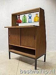 Fifties vintage vitrine kast winkelvitrine counter