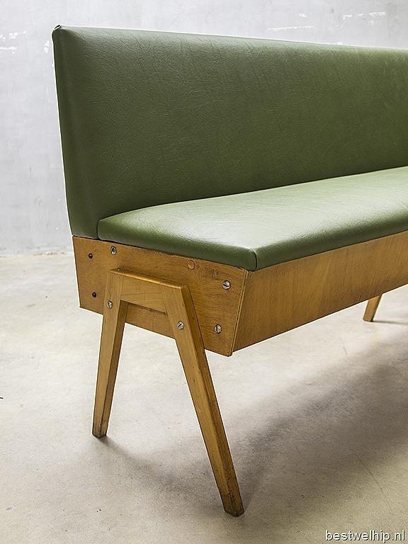 Vintage Houten Klepbank.Vintage Design Eettafel Bank Industrieel Vintage Sofa Mid