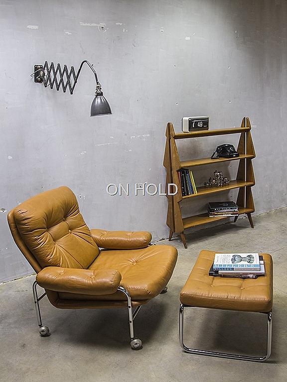 Lounge Stoel Met Voetenbank.Vintage Design Lounge Chair Hocker Bestwelhip