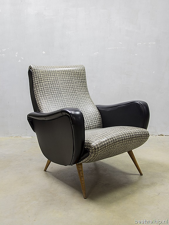 Rock a billy fifties lounge chair armchair vintage bestwelhip - Stoel leer rock bobois ...