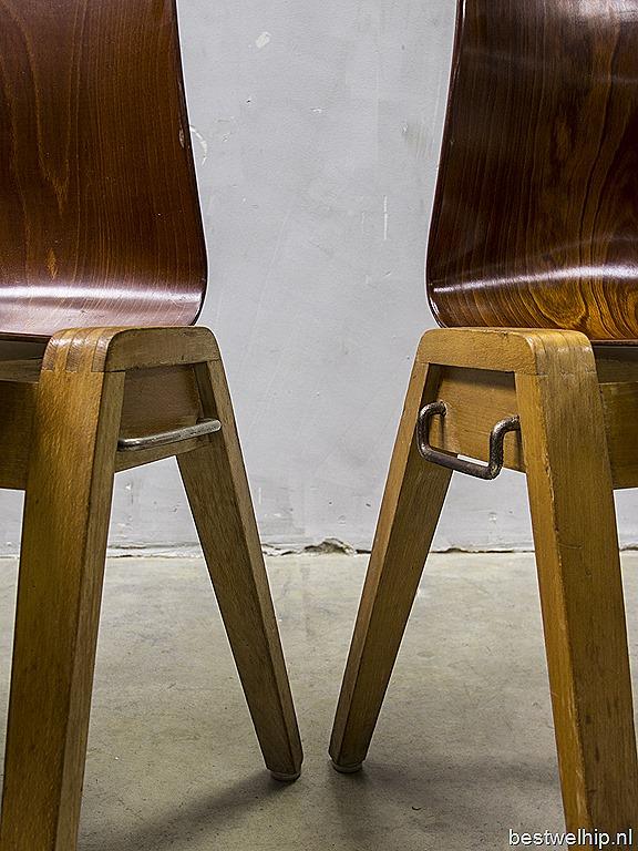 Vintage design stacking chairs dining chairs vintage houten eetkamer stoelen stapelstoelen - Houten stoel eetkamer ...