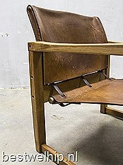 Mid century vintage design safari chair Sweden Karin Mobring