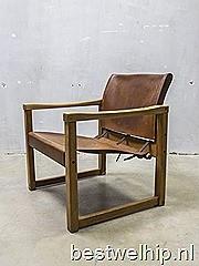 Mid century vintage design safari chair Sweden Karin Mobring