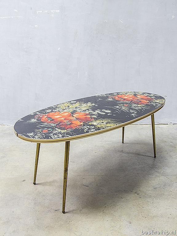 Rare fifties italian mid century modern coffee table vintage design salontafel ovaal bestwelhip - Koffietafel stockholm ...