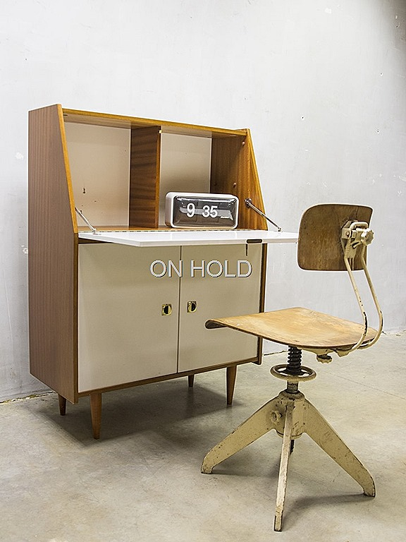 Wandmeubel Met Bureau.Vintage Secretaire Bureau Wandmeubel Bestwelhip