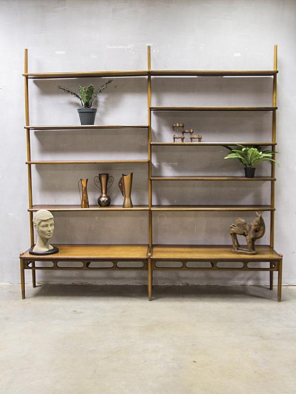 Mid century design modular bookcase wall unit William Watting ...