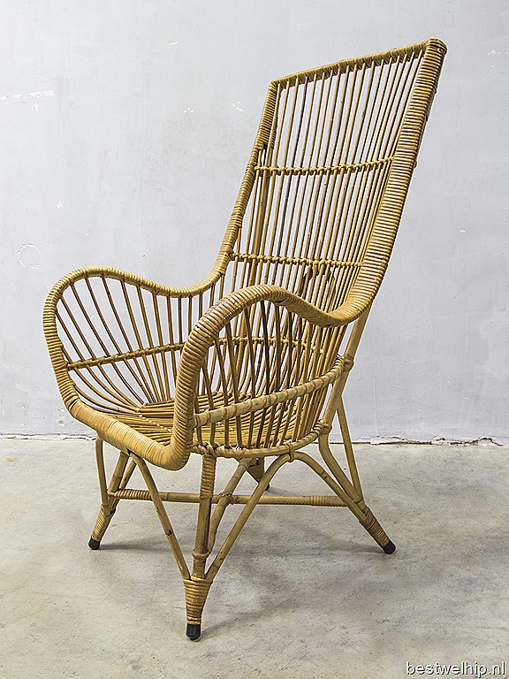 ... armchair Rohe Dutch design, vintage design rotan lounge stoel Rohe