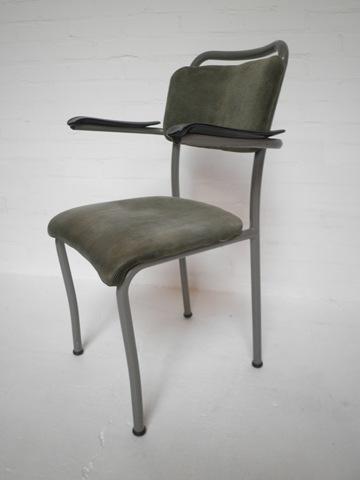 Vintage buisframe stoel design de wit bestwelhip for Design stoel wit