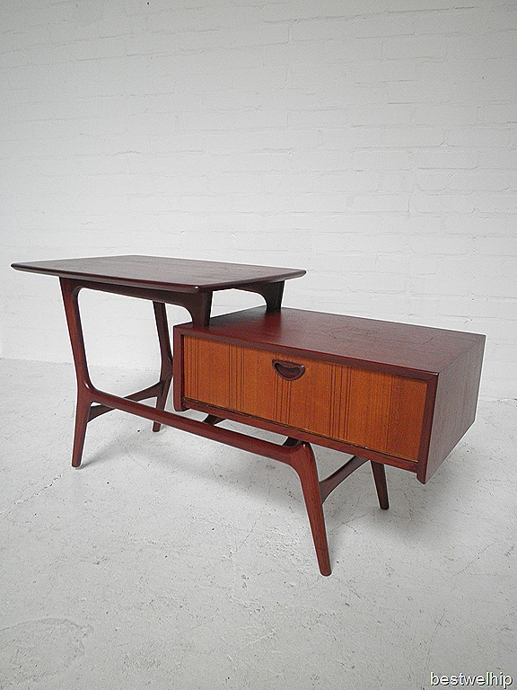 Webe side table tafel louis van teeffelen bestwelhip - Tafel tv vintage ...