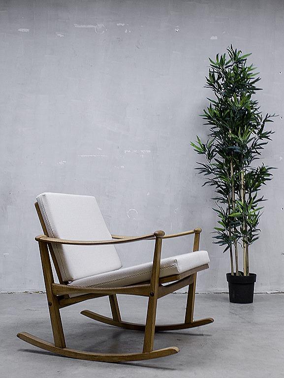 Verwonderlijk Mid century design rocking chair Finn Juhl schommelstoel vintage RL-05