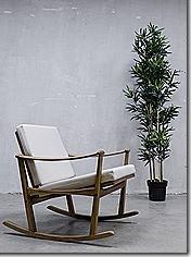 Mid century design rocking chair Finn Juhl schommelstoel vintage