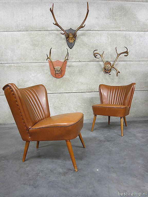 Vintage clubfauteuils cocktail chairs camel fifties bestwelhip - Stoelen rock en bobois ...