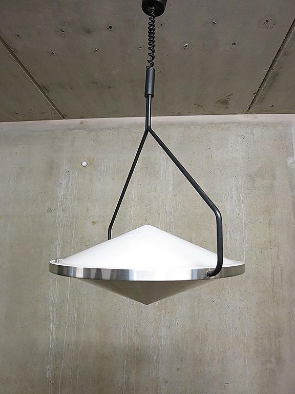 Vintage Kompas lamp van Raak, pendant light industrial | Bestwelhip
