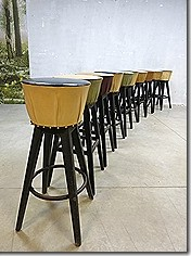 Fifties bar stools 'moulin rouge' vintage bar stool, partij vintage industriële bar krukken