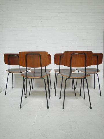 Houten Stoel Vintage.Vintage Design Eetkamer Stoelen Set Gispen Bestwelhip