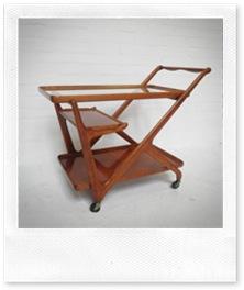 vintage retro design theetafel Cesare Lacca Italy,Tea server trolley Cesare Lacca