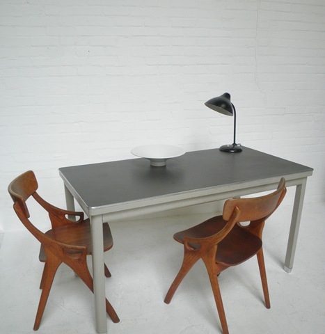 Industrieel stalen vintage tafel gispen stijl bestwelhip - Tafel eetkamer industriele ...